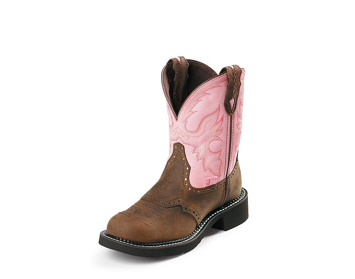 Justin Boots Pink Womens Cowboy Boots Gypsy L9901