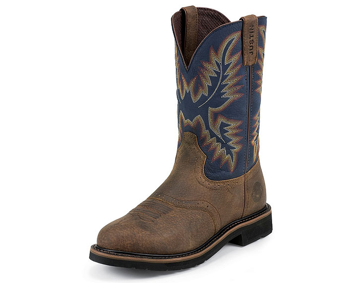Justin Work Boots 4665 COPPER KETTLE ROWDY STAMPEDE