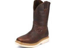 Justin Work Boots 4808 TAN PREMIUM LIGHT DUTY SQUARE TOE