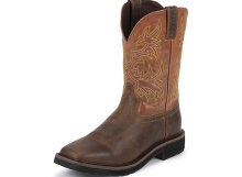 Justin Work Boots 4810 RUGGED TAN STAMPEDE