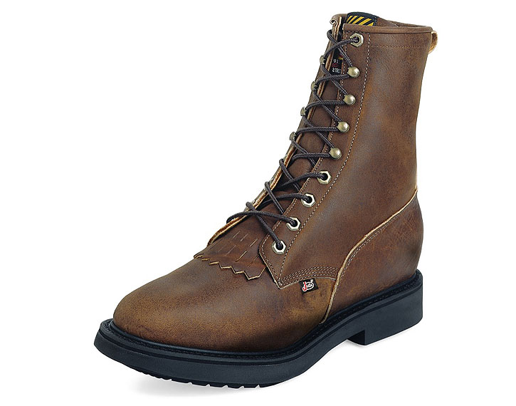 Justin Work Boots 760 AGED BARK LACE UP