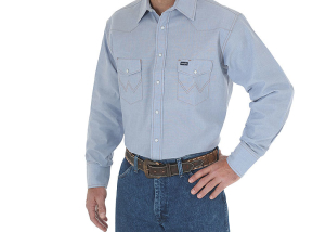 Wrangler Cowboy Cut Work Western Long Sleeve Shirt 70130
